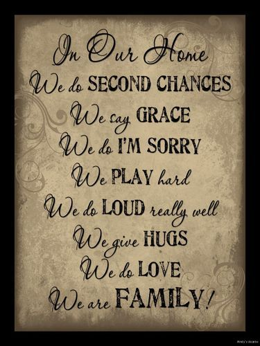 In Our Home We do Second Chances Sign Inspirational Primitive Country Home Decor | eBay