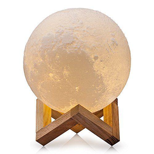 CPLA Lighting Night Light LED 3D Printing Moon Lamp, Warm... https://amzn.to/2GV0GUR