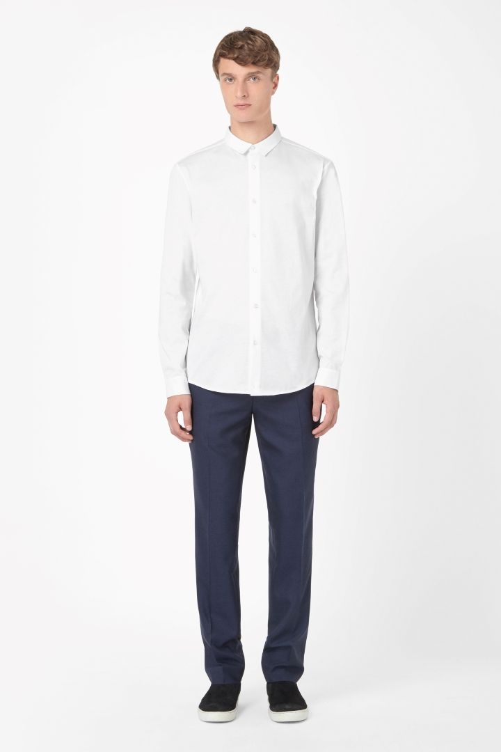 COS | Textured collar shirt