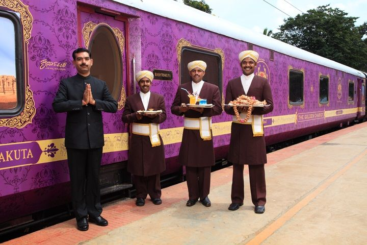 The Golden Chariot is a luxury train in India that connects the vital tourist spots in the Indian states of Karnataka and contemporary Goa. The train offers a 7-day and 8-night tour of Bangalore, Kabini, Mysore, Hassan, Hospet, Badami and Goa.