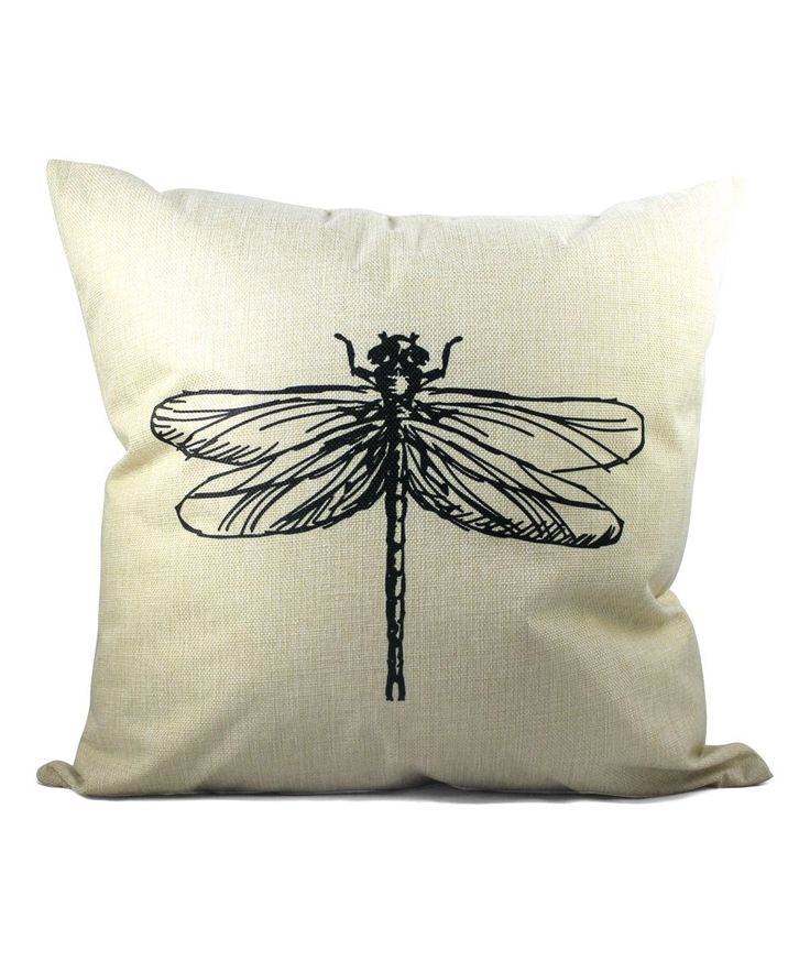 Dragon Fly Cottage Throw Pillow