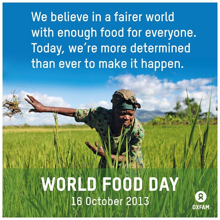 Together we can achieve this. Please LIKE & SHARE to show your support this #WorldFoodDay