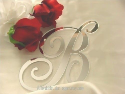 Monogram Cake Topper Many Different Colors by TheCakeTopperShoppe, $14.99