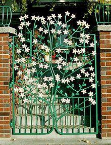 Flowered tree gate