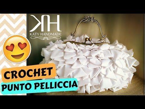 """Tutorial uncinetto pochette """"Holiday""""   Punto stella   Pattern crochet    Katy Handmade ♡ - YouTube"""