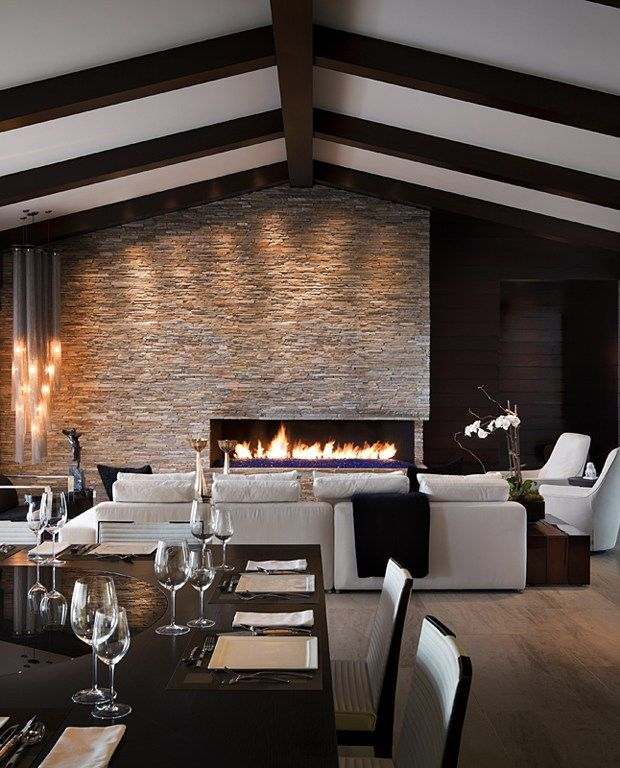 17 best images about 09 dream home fireplace on - Interior design ceiling living room ...