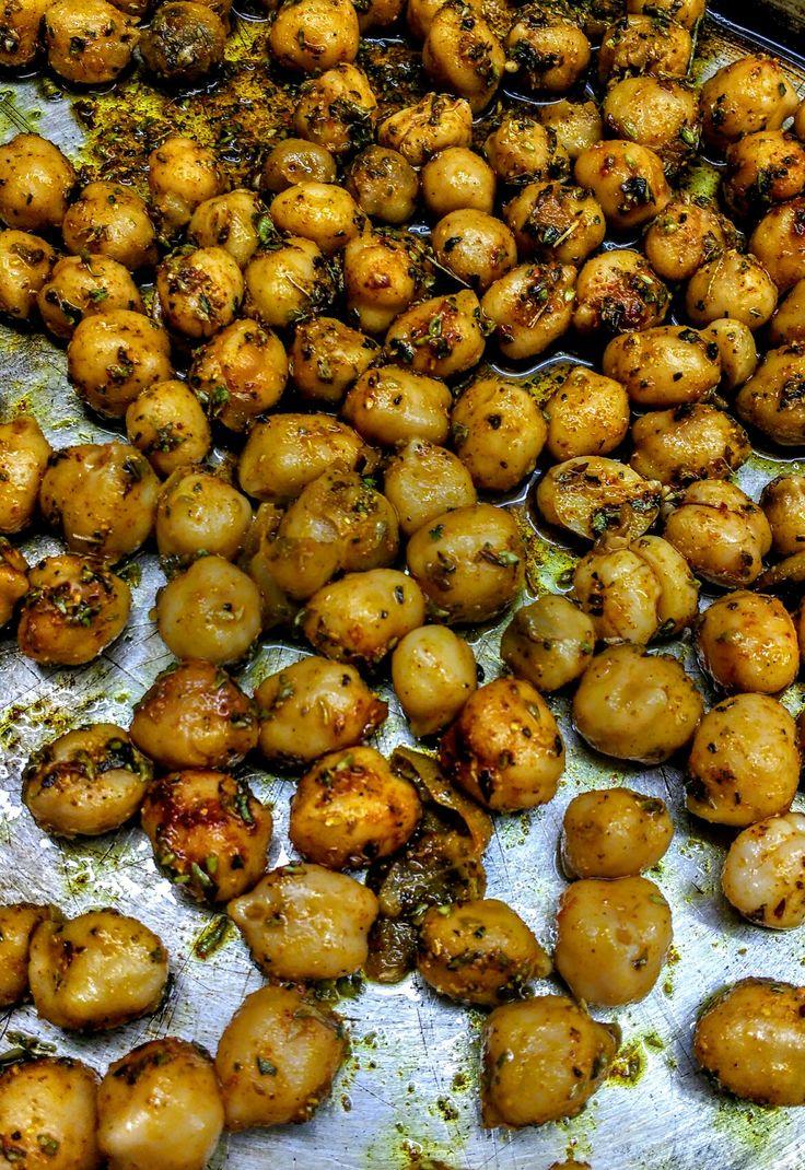 Garbanzos horneados especiados con ras al hanut
