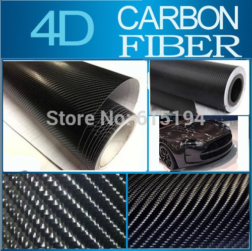 Carbon Fiber Vinyl Black 4D 30x152CM 11 8 x60 4D Colored Glossy Carbon Fiber Vinyl Film