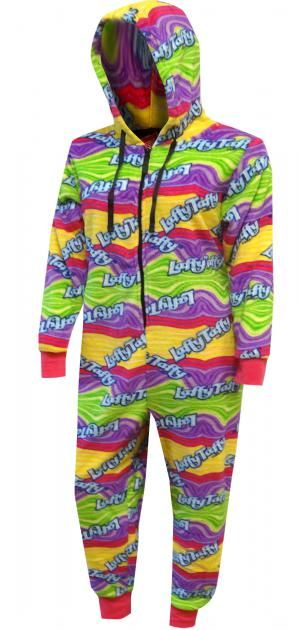 Laffy Taffy Candy Plush Onesie Pajamas