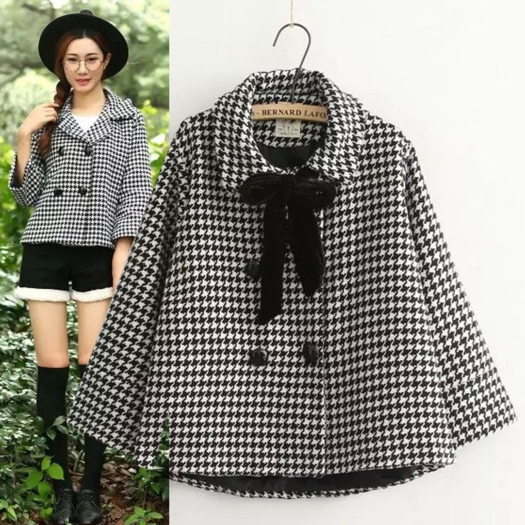 "Color:black white grid. Size:one size. Length:56-62cm/21.84""-24.18"".Sleeve length:47cm/18.33"".Shoulder:39cm/15.21"". Fabric material:cotton."