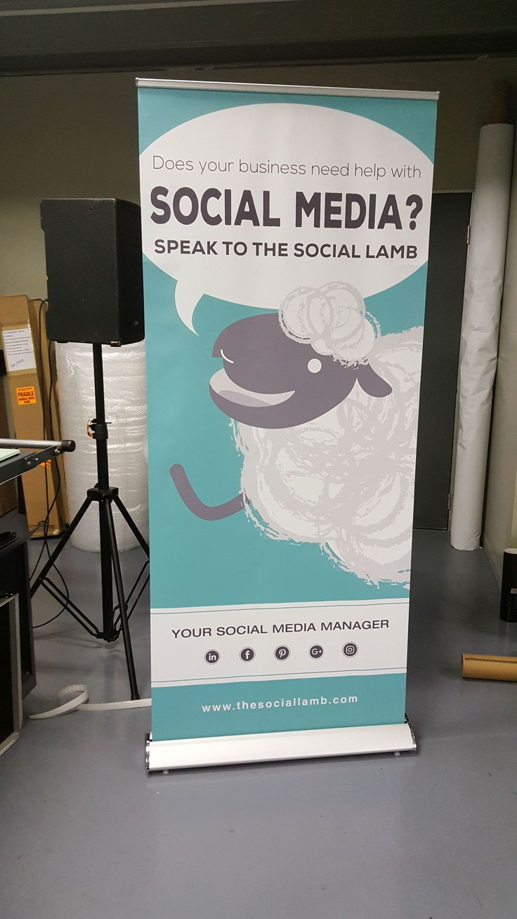 Deluxe Roll Up Banner for The Social Lamb http://store.umlilobrands.co.za/deluxe-roll-up-banner.html