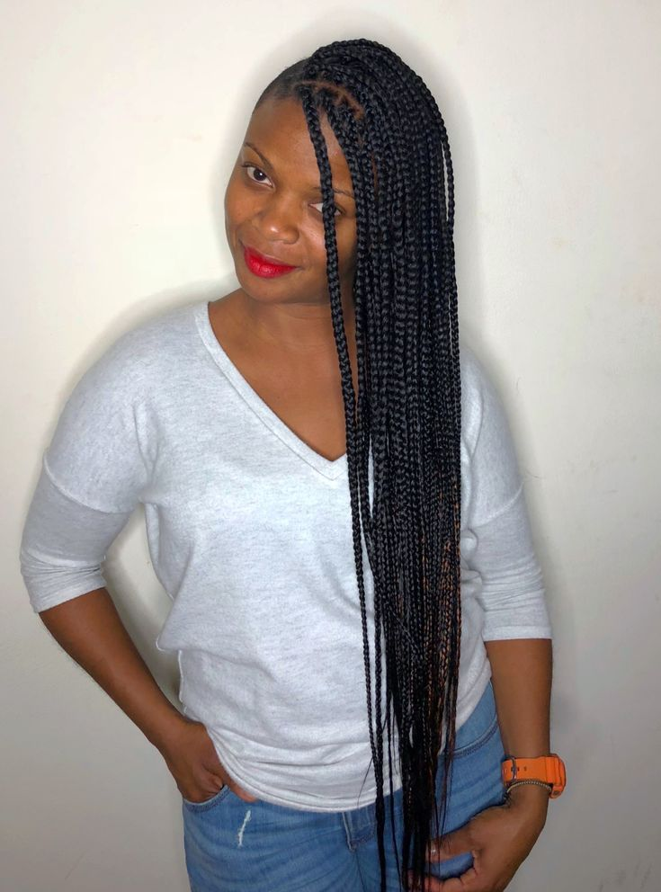 Long Knotless Box Braids