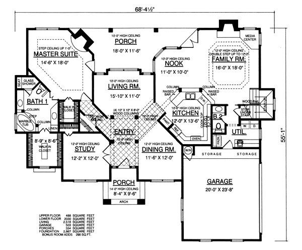 Plan No.448152 House Plans by WestHomePlanners.com