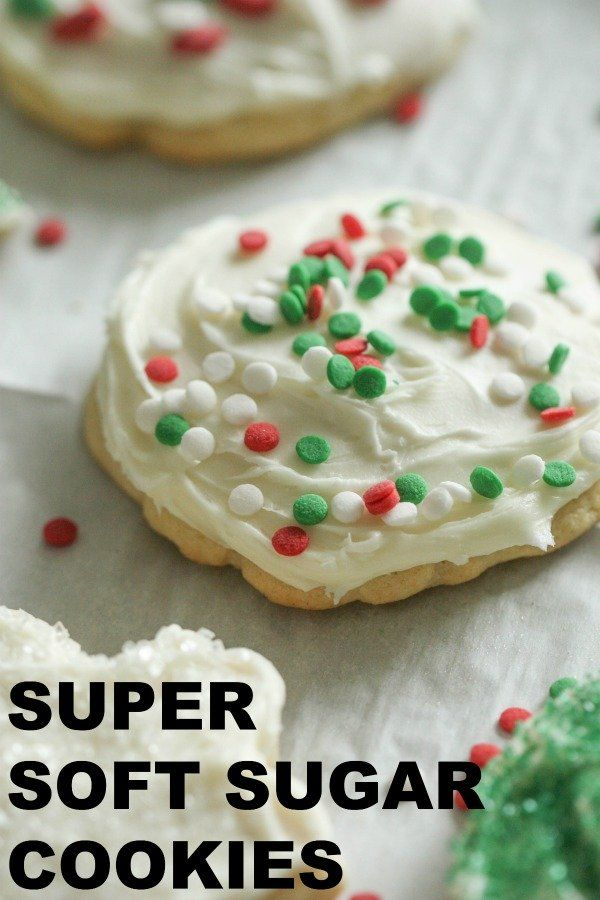 Super Soft Sugar Cookies | Recipe in 2020 | Soft sugar cookies