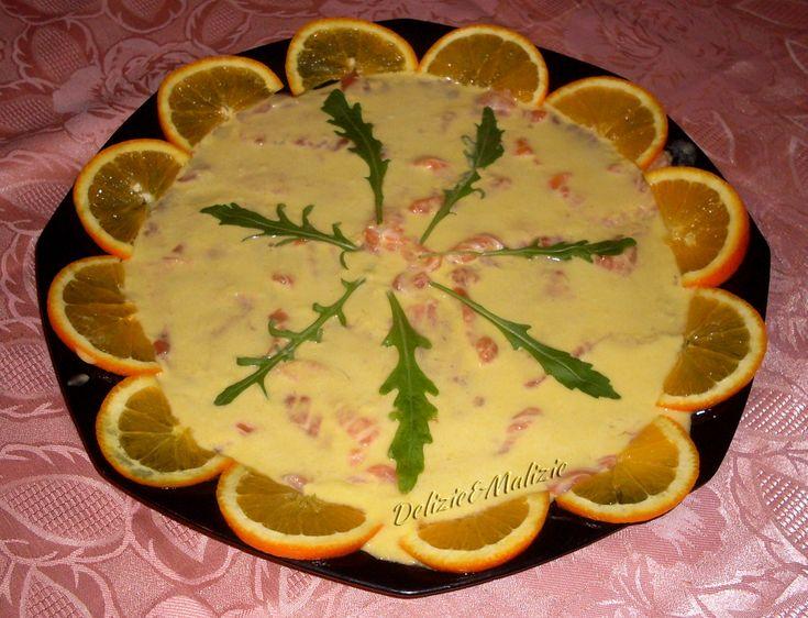 Carpaccio di salmone fresco all'arancia