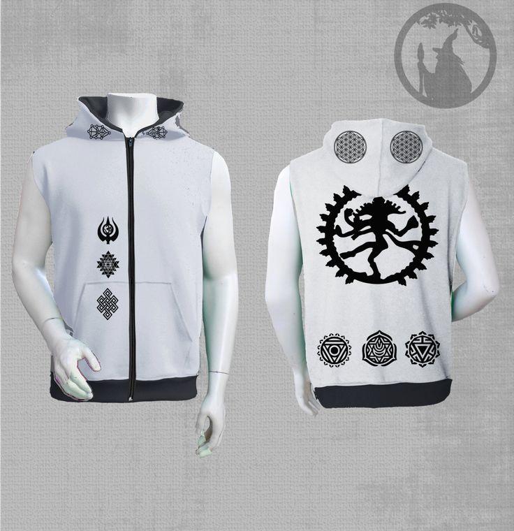 Mens sleeveless jacket Nataraja Dance   black velvet  print-psychedelic clothing-Festival Wear-psy clothing-Burning man by PSYDRUID on Etsy