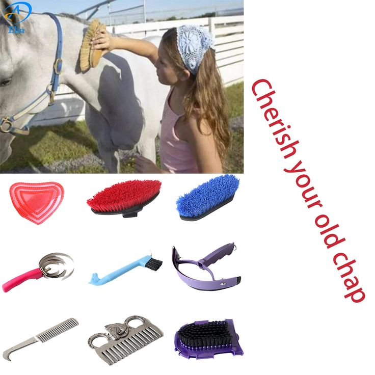 Novo 9 em 1 Ferramenta de Limpeza Do Cavalo com cavalo grooming kit de ferramentas de Limpeza de equipamentos de limpeza conjunto saddleries equestres Equitação