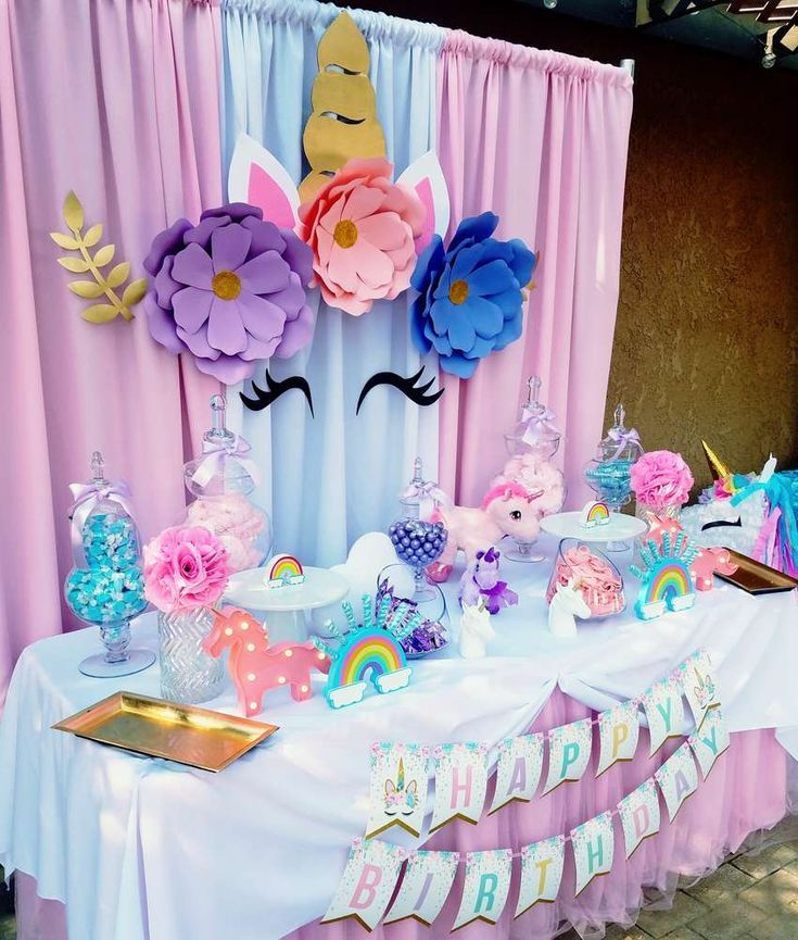 Unicorn Birthday Party Ideas Photo 1 Of 13 Catch My Party Unicorn Birthday Party