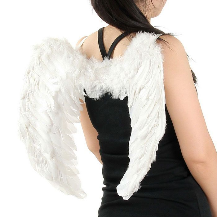 Christmas Halloween Costume Feather Angel Wings - White (60 x 45cm) Euro 24,55