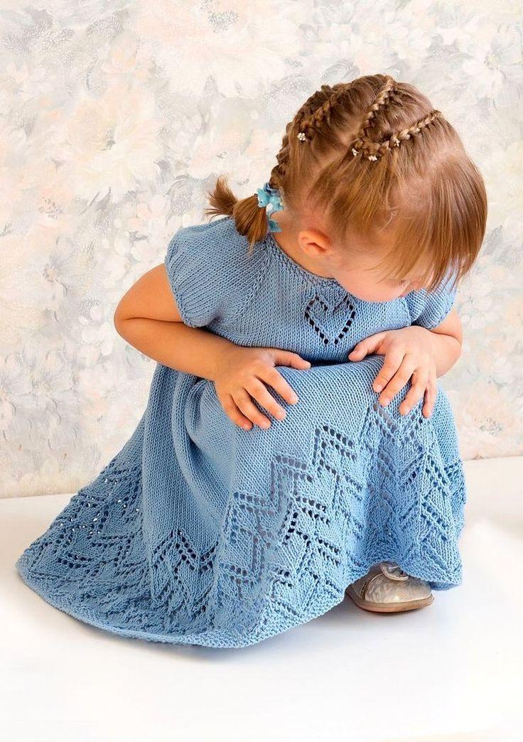 Ошатна в'язана сукня для дівчаток з пишною спідницею Little Helen Joyce від дизайнера Taiga Hilliard.
