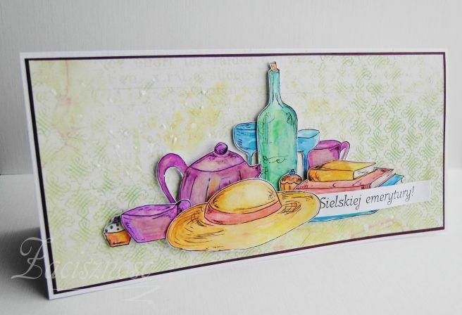 Ręcznie robiona kartka z okazji przejścia na emeryturę/ Handmade retirement card
