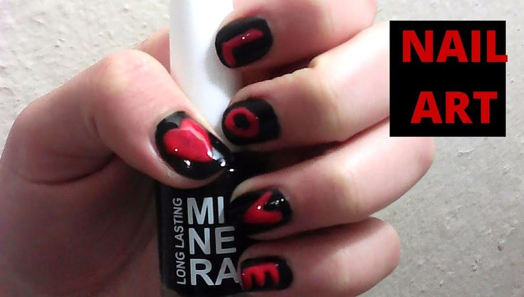 Valentine's day Love nail art tutorial 2016 l Mirtoulini 29