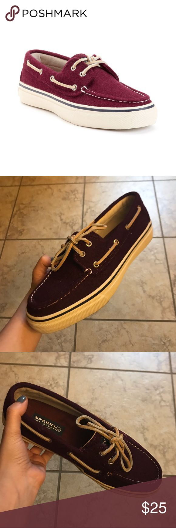 Sperry Men's Boat Shoes Sperry Bahama Wool Boat Shoes / Color: Burgundy Sperry Top-Sider Shoes Boat Shoes