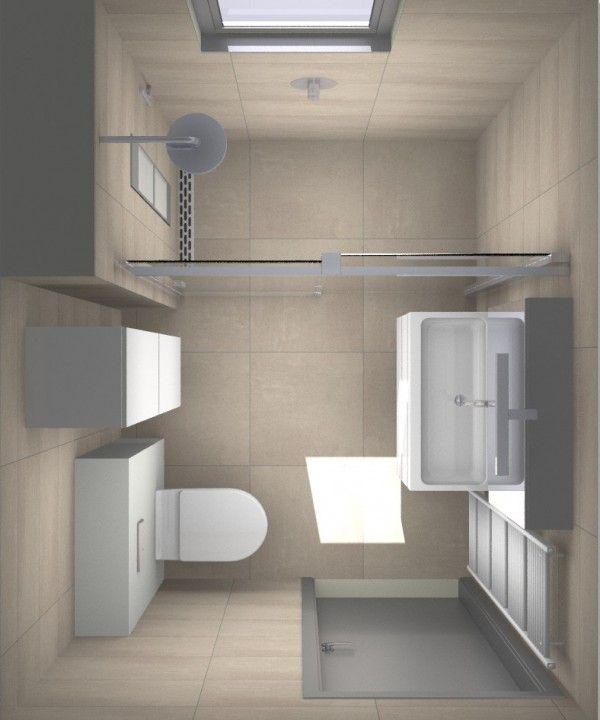 Kleine badkamer | douche met zonnebank | Sunshower. 1,80 x 2,40 meter