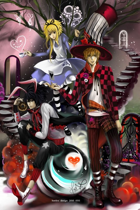 Death Note in Wonderland. I wonder if Ryuk would be the Cheshire Cat?...