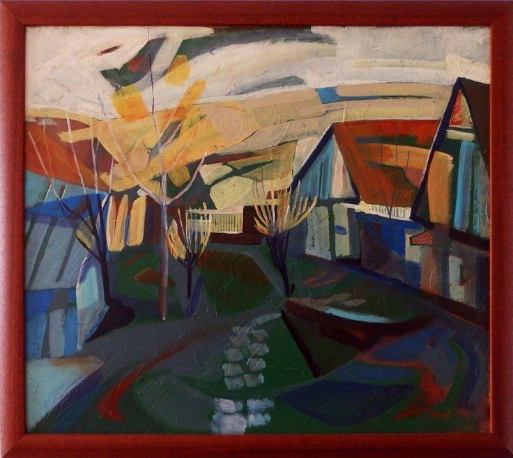 Ladislav Majoroši - Záhrada, akryl na sololite, 61,5 x 69 cm, 2005
