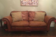 Selling: Laura Ashley Mortimer leather sofa