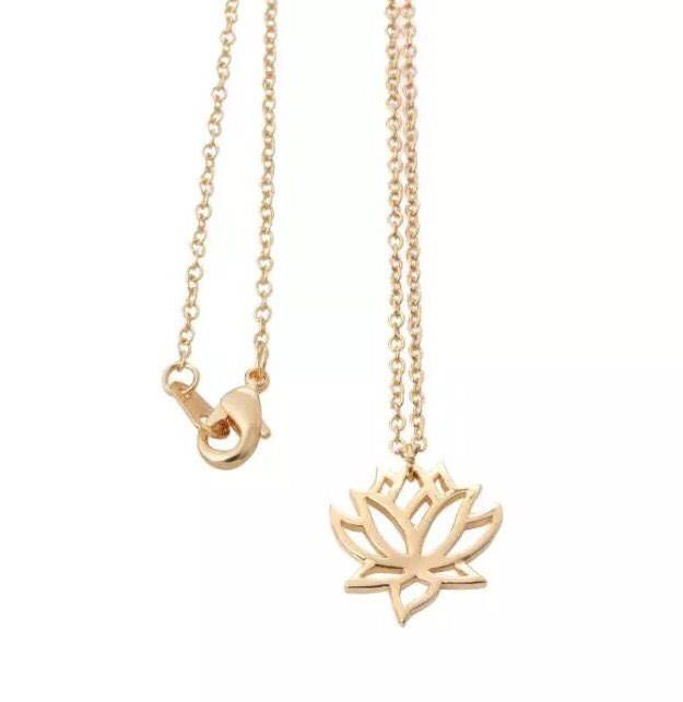 Delicate Lotus Flower Necklace, Dainty Jewelry, Flower Necklace, Dainty Necklace, Gift Ideas, New Beginnings, Simple Necklace, Gifts by MissFitBoutiqueCA on Etsy https://www.etsy.com/ca/listing/576588631/delicate-lotus-flower-necklace-dainty