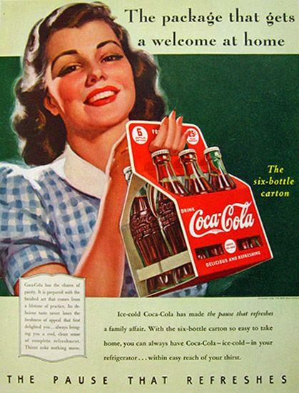coca cola ad coca cola vintage ads pinterest coca cola ad and coca cola ad. Black Bedroom Furniture Sets. Home Design Ideas