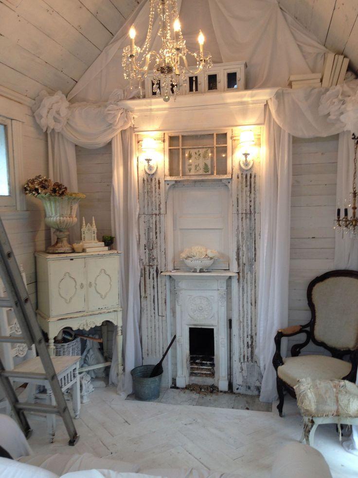 best 25 shabby chic fireplace ideas on pinterest. Black Bedroom Furniture Sets. Home Design Ideas