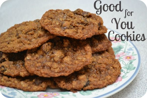 """""""Good-for-You"""" Cookies: Chocolate, Healthy Snacks, Snack Recipes, Whole Wheat Cookies, Healthy Foods, Favorite Recipes, Comida Food, Yummy Foods, Food Drinks"""