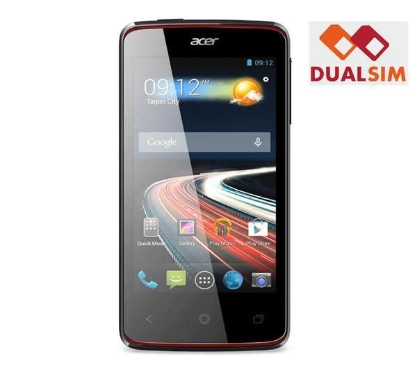 ACER Liquid Z4 Duo - Dual SIM smartphone - black not a great camera but only €99 ! and has a radio