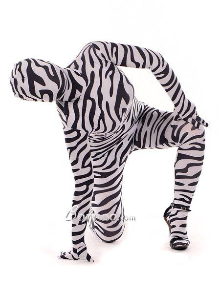 Lycra Spandex Zebra Full Bodysuit Zentai