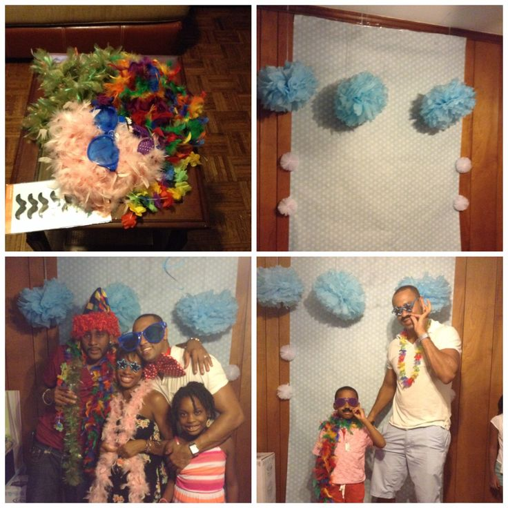 We had  a photo back drop with props at the baby shower