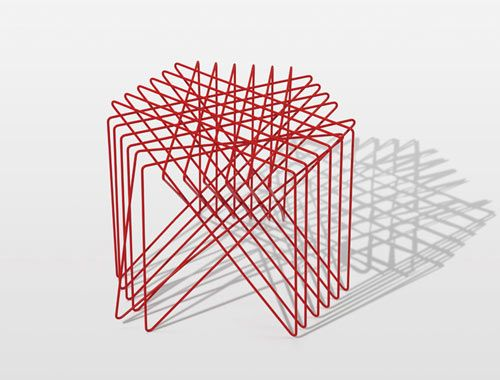 With a background in graphic design, Japanese designer Shinn Asano launched a six-piece collection of furniture called Sen, which is Japanese for 'line'. Asano takes two-dimensional lines and works them into these three-dimensional, graphically inspired forms.