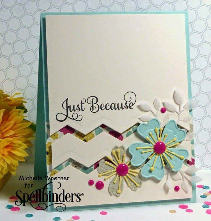 "Beautiful ""Just Because"" Summery Card...Created by Michelle  Woerner - Stop and Stamp the roses."
