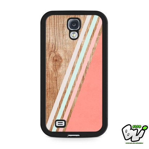 Wood Chevron Geometric Stripe Samsung Galaxy S4 Case