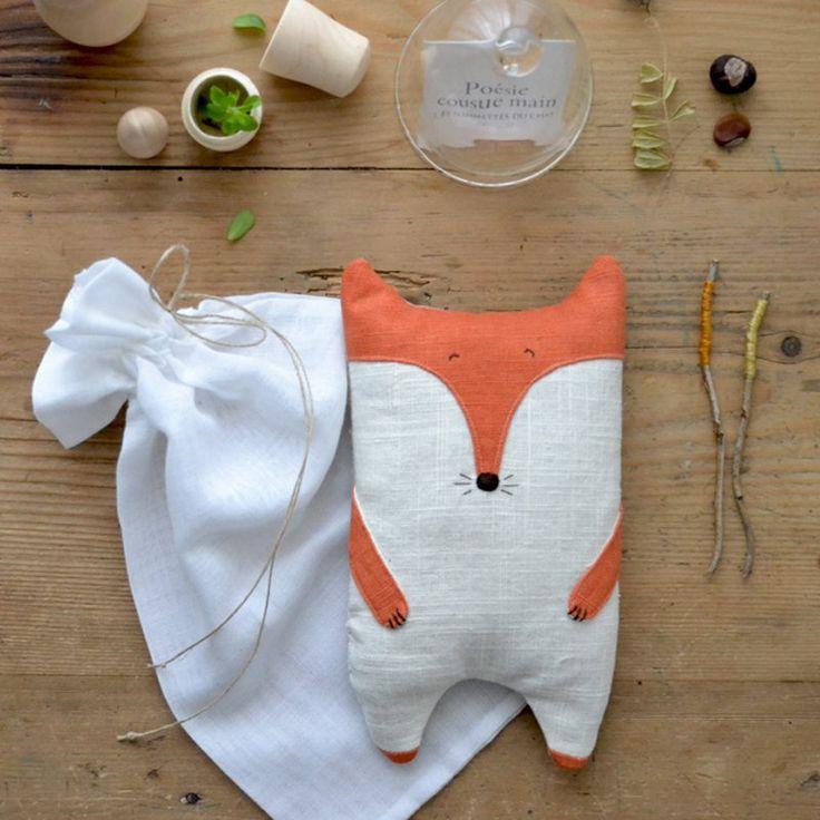 Une bouillotte renard en lin - Marie Claire Idées