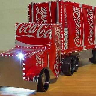 How to make the Coca Cola Truck. DIY guide for turning old Coke cans into a model of the Christmas Coke Lorry which actually lights up.
