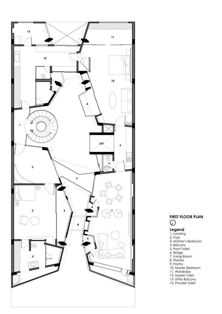 Gallery Of Cleft House Anagram Architects 25 Layout Architecture Office Floor Plan How To Plan
