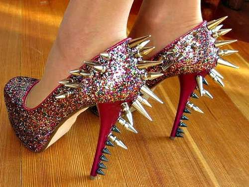 An Instructables DIY. I would probably seriously injure myself wearing these but I would look badass on the way to the hospital.