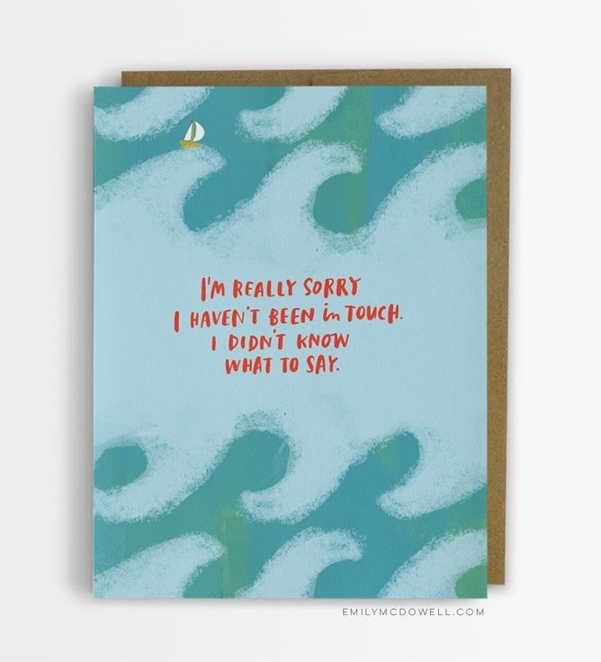 A Cancer Survivor Designs the Cards She Wishes She'd Received From Friends and Family.  empathy cards say it all.  invisible disease. lymes. lupus. MS, cancer, etc