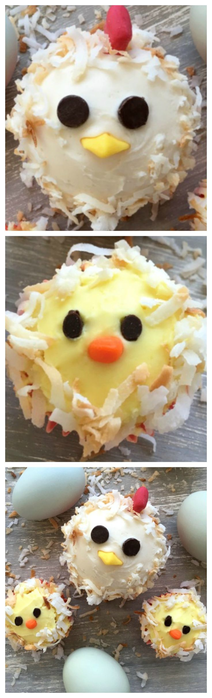 HOW TO MAKE CHICKEN CUPCAKES AND BABY CHICK CUPCAKES ~ CUTE AND TASTY.