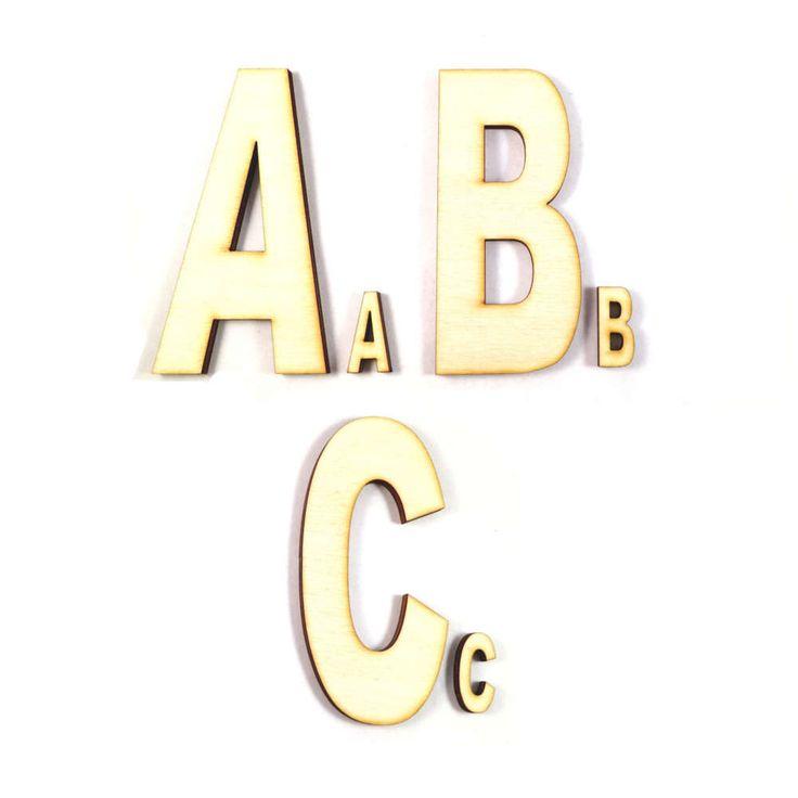 Buchstaben aus Holz zum Basteln // Die grossen und kleinen Holzbuchstaben und Zahlen bieten Ihnen unzählige Bastel- und Gestaltungsmöglichkeiten. Ob als Name an der Kinderzimmertür, als Deko und zur Beschriftung im Haushalt oder für kleine Schulanfänger zum Legen und Lernen... Lassen Sie Ihrer Fantasie freien Lauf und bemalen oder verzieren Sie die Buchstaben bei Bedarf nach Ihren Wünschen.
