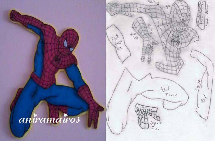 El hombre araña y moldes | Foami para toda ocasión. | Pinterest