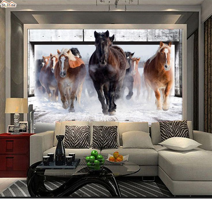3 Styles Running Horse Picture Wallpaper Art Deco Wall Paper Mural 3d Background